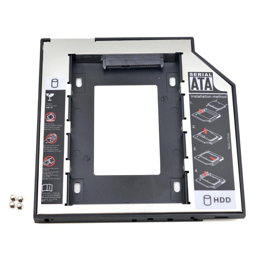 "Universal SATA to SATA 2nd HDD Caddy 9.5mm for 2.5"" SSD Case Hard Disk Drive Enclosure for Laptop ODD Optibay Optical Bay(China (Mainland))"