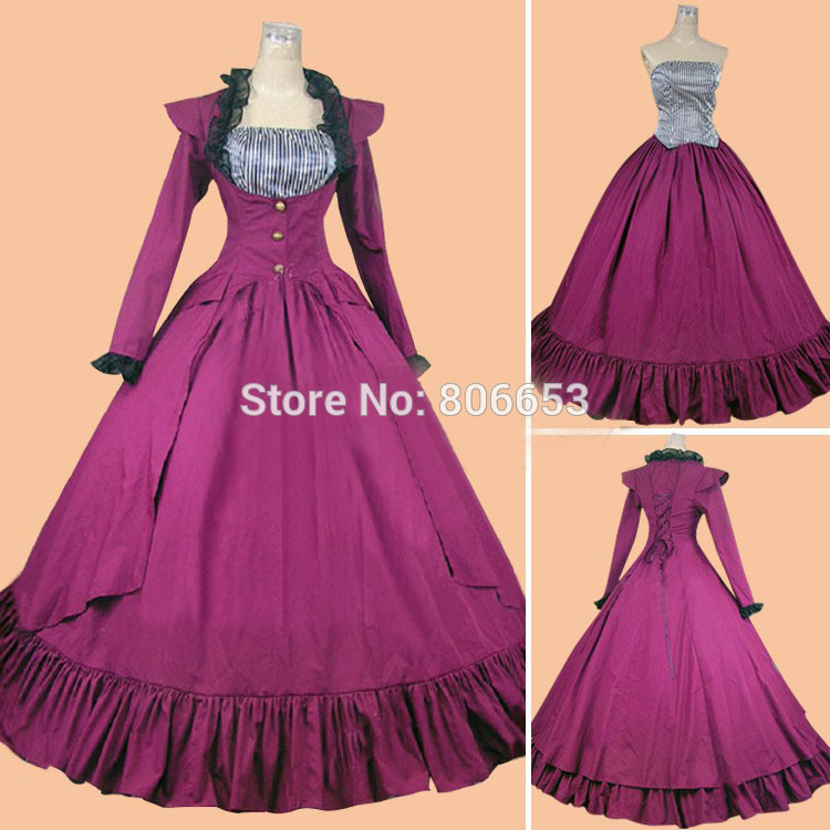 Cheap christmas southern civil war belle ball gown civil war dress