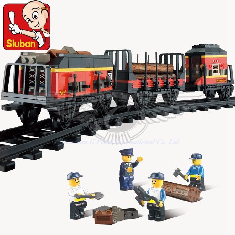 Sluban blocks century train freight Shinkansen 255pcs/set M38-B0232 Children's enlightenment Building block Compatible With Lego