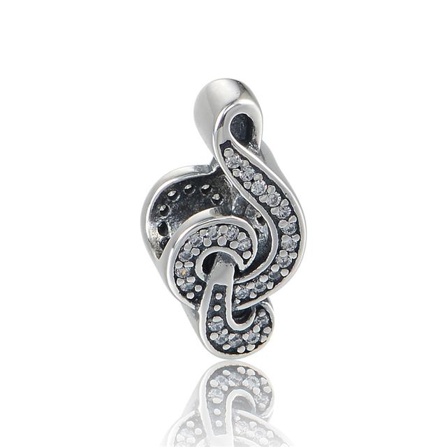 Осень стиль серебряные ювелирные изделия 925 музыка точка бусины с камнями Fit пандора оригинальный подвески браслеты DIY мода ювелирных изделий