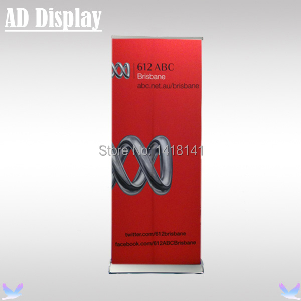 80*200cm Luxury Wide Base Pull Up Banner,Exhibition Aluminum Retractable Roll Up Stand,Trade Show Advertising Display Equipment(China (Mainland))