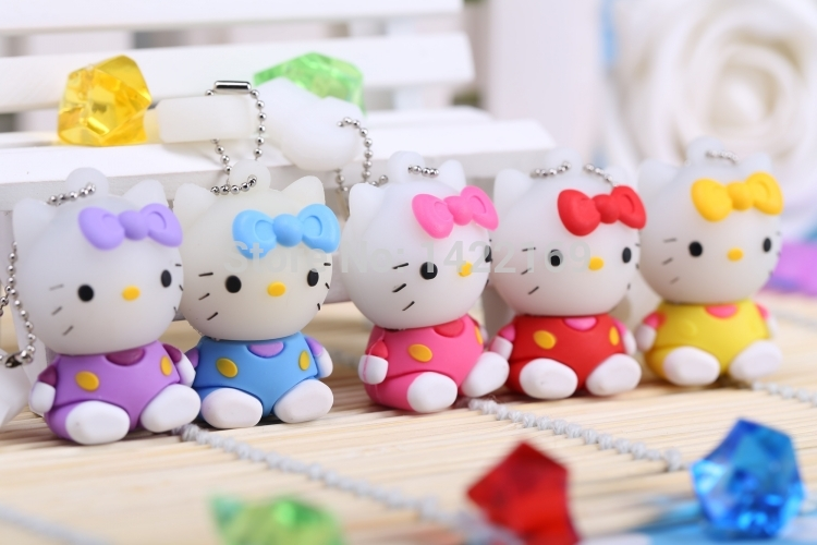 hello kitty usb flash drive 32gb pen drive 64gb pendrive 4gb 8gb 16gb cartoon u disk flash card hot sale Memory stick(China (Mainland))