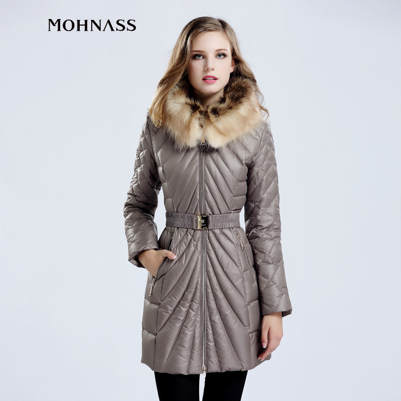 MOHNASS 2015 Winter Coat Woman Jacket Women Long Thick New Down Jacket parka Real Raccoon Fur collar Free Shipping 12A7295-20Одежда и ак�е��уары<br><br><br>Aliexpress
