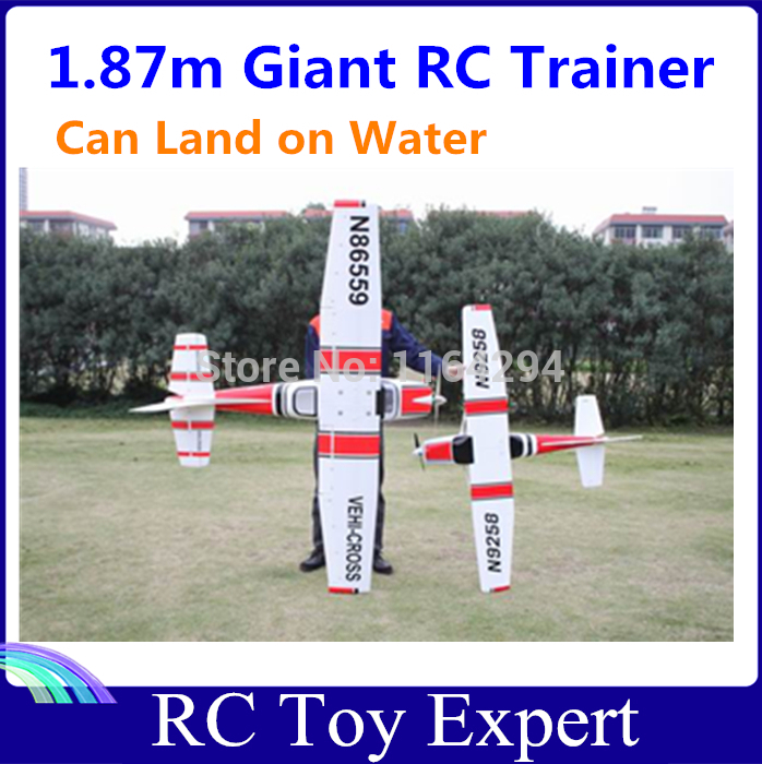 GIANT RC Trainer 6CH 2.4G EPO 1.87m Cessna 182 RTF with FLAPS Electric Airplane Model(China (Mainland))