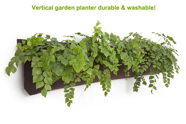 horizontal pocket decoration wall garden planter planting bag vertical garden design green garden walls pot grow