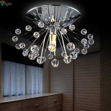 Buy Nordic Designer Dandelion Led G4 Ceiling Lights Chrome Metal K9 Crystal Foyer Creative Ceiling Lamps Indoor Luminaire Fixtures for $25.54 in AliExpress store