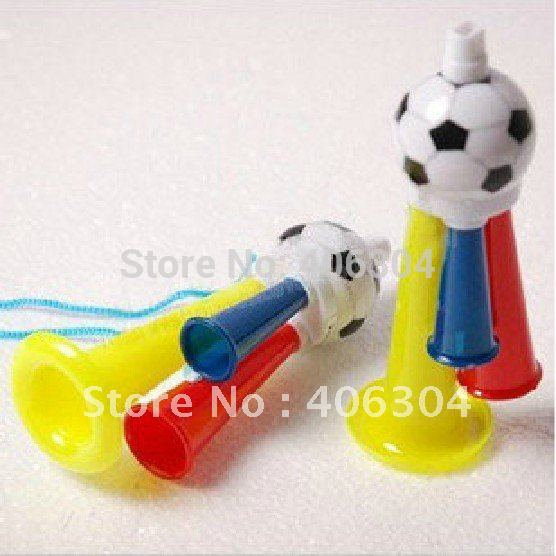 Free shipping, For 2012 London Olympic ,Football trumpet,horn,14cm length,whistle,cheerleading in the football, basketball game,(China (Mainland))