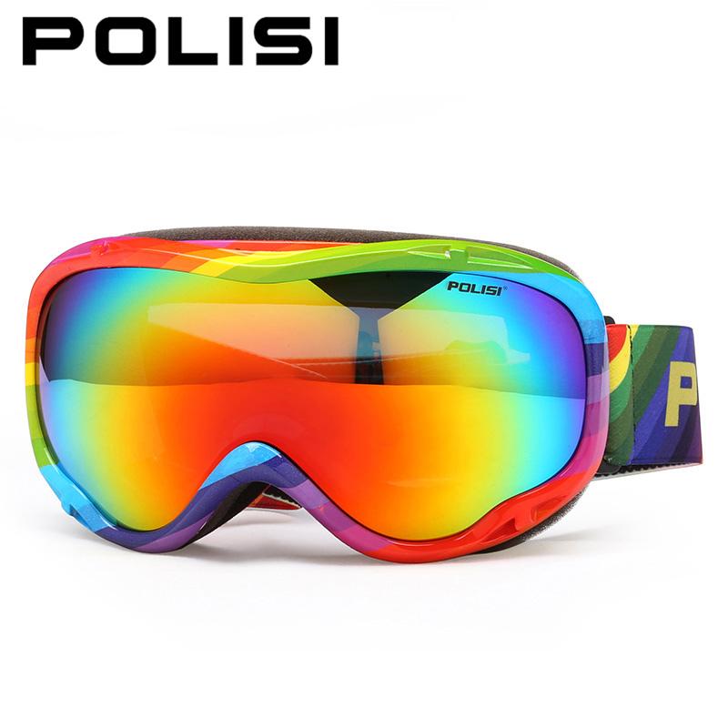 POLISI Ski Snowboard Goggles Polarized Outdoor Skate Snow Glasses Men Women Double Layer Anti-Fog Lens Snowmobile Skiing Eyewear
