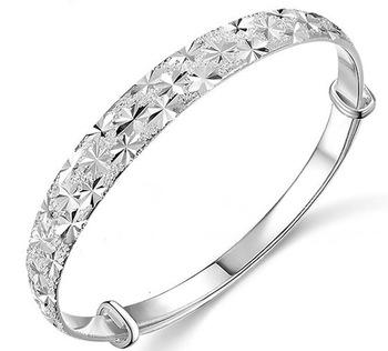 Свадебные украшения мода дамы 925 серебряных браслеты браслеты классический романтический ...