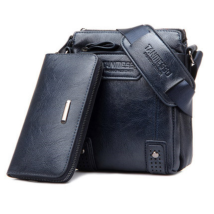 Free Wallet Man Bag New Famous Brand Fashion Men High quality Leather Crossbody Bag Male Messenger Bags For Man Drop Shipping(China (Mainland))