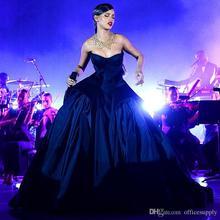 Ball Gown Navy Blue Celebrity Formal 2016 Evening Dresses Prom Dress Long Train Red Carpet Vestidos - lovestory9 store