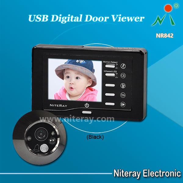 Niteray NR842 3.0 Inch Color Display Digital Peephole Viewer Door Video Camera With Doorbell & Motion Detecting(China (Mainland))