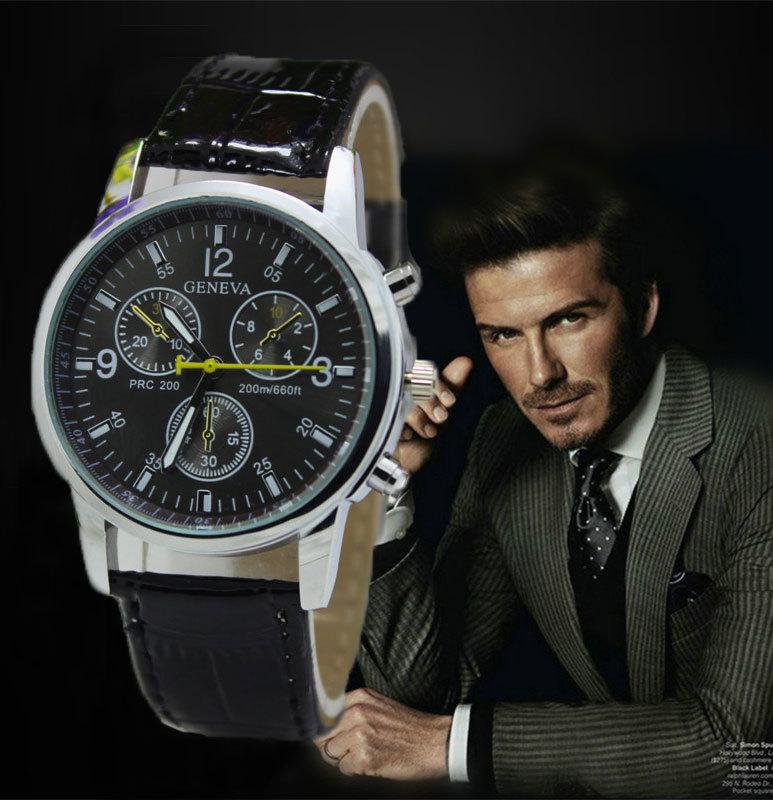 2015 New Quartz Men Watches Fashion & Casual Luxury Leather Watch Elegant Sports Out Door Wristwatch Wholesale relojio Hot Sale!(China (Mainland))