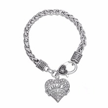 European & American heart Class of 2016 crystal bracelet graduation gift(China (Mainland))