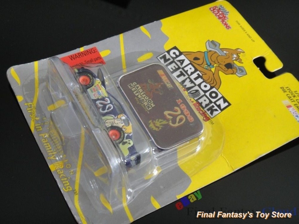 Rare Hanna Barbera Scooby Dooby Doo Metal Die cast car with Emblem 1996 Edition Nascar free shipping to US(China (Mainland))