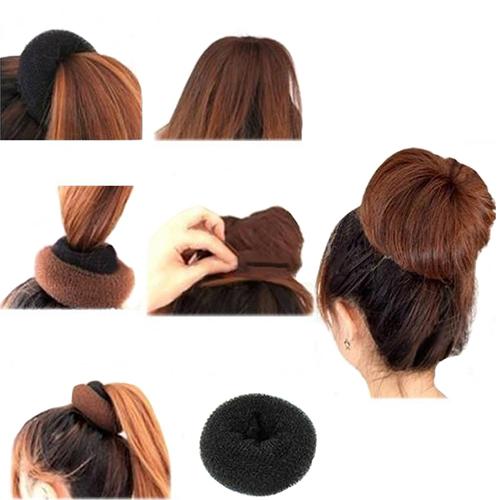 Купить аксессуары группа 5SAE Мода 1 шт. черный эластичный круглый мейкера нейлон проволоки волос формирователь укладки в интерн