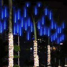 Multi color 30CM Meteor Shower Rain Tubes AC100 240V LED Christmas font b Lights b font