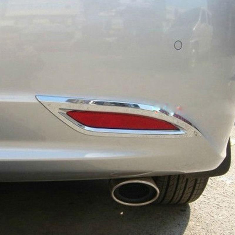 Chrome Rear Fog light Lamp Cover Trim For Hyundai Sonata 8 2011 2012+<br><br>Aliexpress