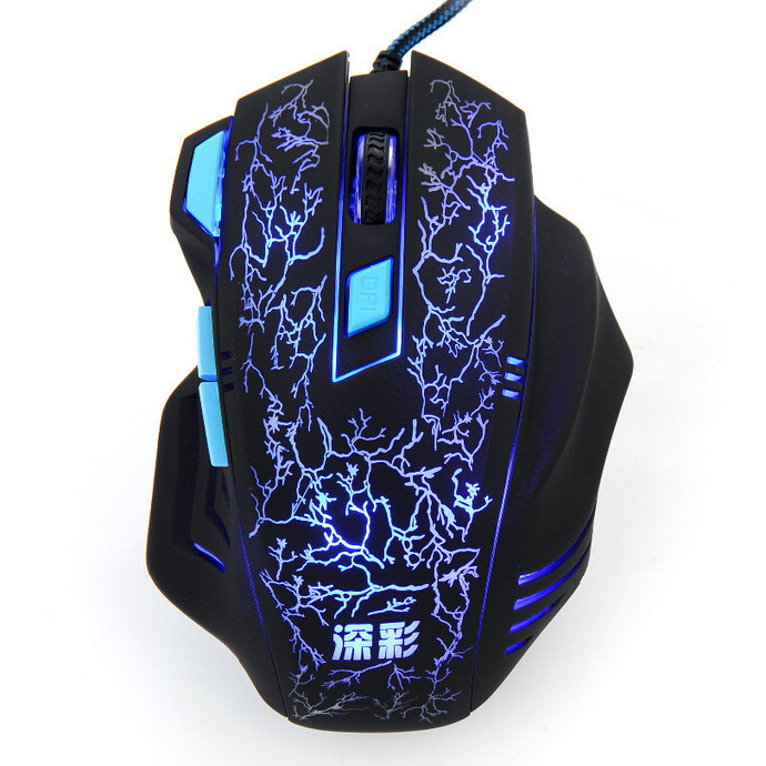 laptop Optical 7 Button USB optical gaming mouse para jogos notebook computer X7 For dota2 LOL gamer PC wire steelseries Mice G1(China (Mainland))