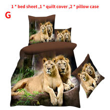 3D Animal Pattern Quilt Bedding Sets Duvet Cover Set Bed Set Bed Sheet Twin Double Queen Quilt Cover Pillow Case(China)