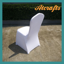 hot sale cheap wedding white spandex lycra chair cover, free shipping(China (Mainland))