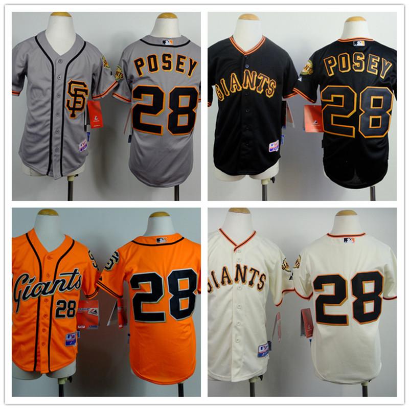 San Francisco Giants Jersey 28 Buster Posey Jersey Black/ Silver Plus Size Baseball Jersey Cool Base Jersey M L XL XXL XXXL <br><br>Aliexpress