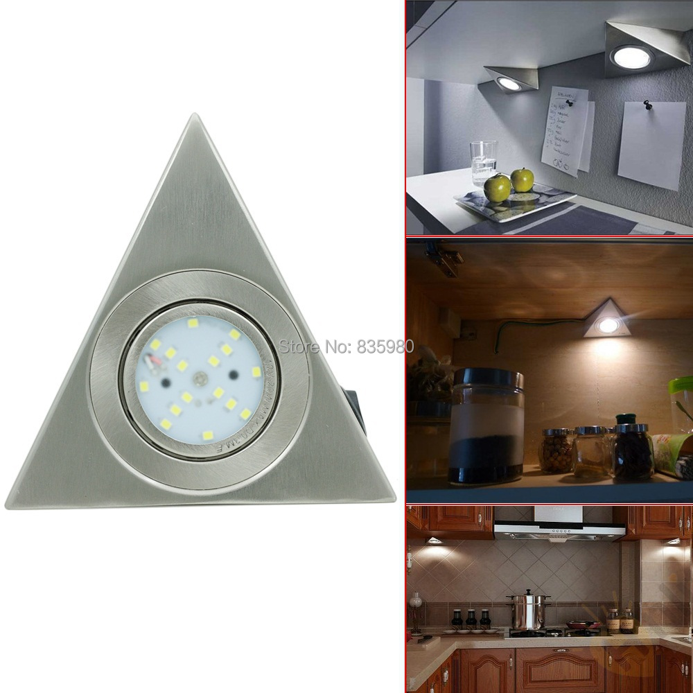 New Arrival 3W 2835SMD LED Triangular cabinet lights Luminaire light Closet Kitchen Light Lamp with switch 85-265V(China (Mainland))