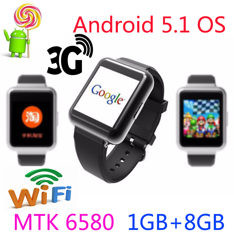 Smartwatch Bluetooth Android 5.1 Q1 Wristwatch WiFi GPS 4 core MTK 6580 support Korean Wristwatch browser weather more apps(China (Mainland))
