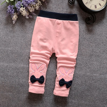 2016 Spring and autumn,infant cute rabbit flowers pants,Sweet baby girls thin Legging ,different colors 811