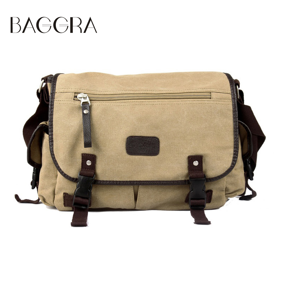 BAGGRA Men Messenger Bags Canvas Vintage Crossbody Satchel Shoulder Mens School Book Bag Casual-bag Bolsa Male High Quality(China (Mainland))