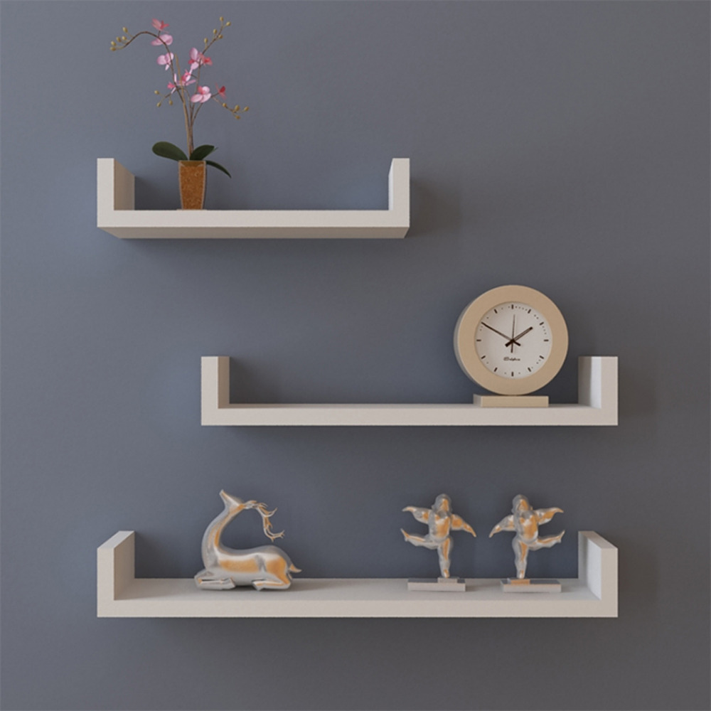 White Floating Wall Shelves 1000 x 1000