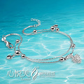 trendy anklet fashion jewelry of anklet for women girl s 925 sterling silver anklet foot jewelry