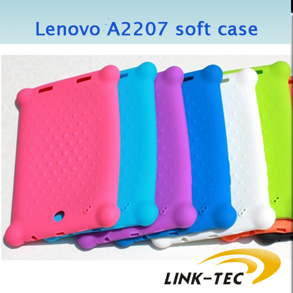 High quality Colorful Soft Case Silicone case for Lenovo Lepad A2107 A2207 tablet pc LT18