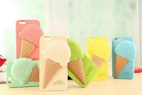 New Lovely gelato pique ice cream silicone back cover mobile phone cases skin for iphone 6 6plus 5 5s 5c cell phone cover(China (Mainland))