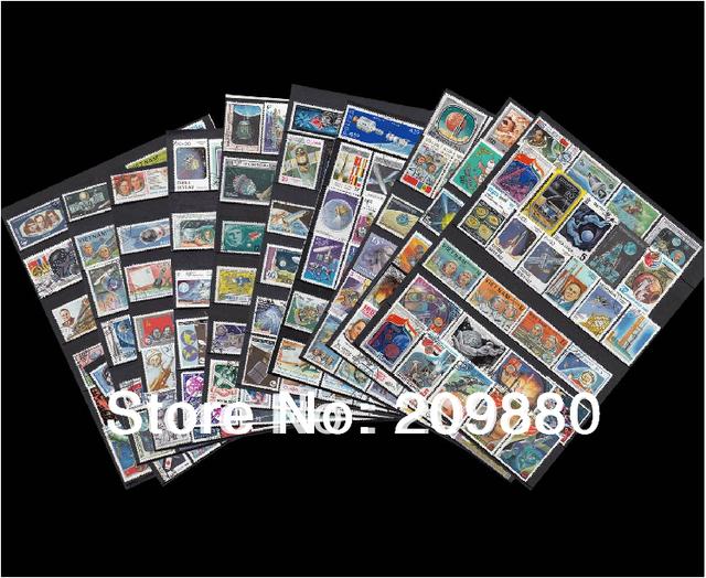 Не повторять! 300 шт./упак., Аэрокосмической почтовая марка с почтовым штемпелем, Коллекции марок о спутниковый, Ракеты, Космическая станция