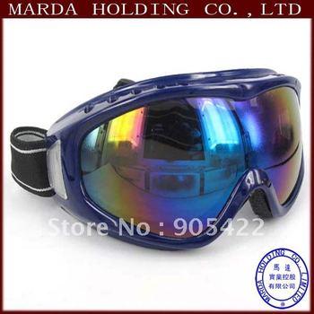 Retail 5 color Outdoor Windproof Glasses Ski Goggles Dustproof Snow Glasses Men Motocross Riot Control Goggles CG09