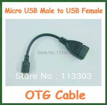 500pcs Micro OTG Cable Micro USB Male to USB Female Adapter Converter for Tablet PC Mobile Phone GPS MP3 Universal