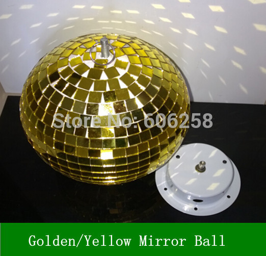 Golden / Yellow Spot Par Light Mirror Reflection Glass Ball Stage Festival Ball / Motor 10inch 19CM Free shipping<br><br>Aliexpress