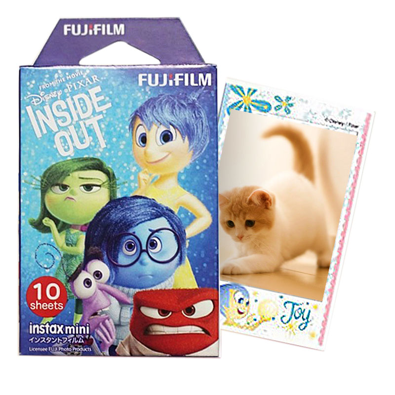 Fujifilm Instax Mini Film Pixar Inside Out for Fuji Instant Camera Mini Neo 90 8 7s 25 55i SP-1 300 Photo Paper 10 Sheets(China (Mainland))
