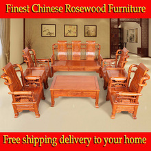 Free Shipping 8pcs African rosewood Living Room solid sofa sets chinese rosewood Furniture Ming Dynasty style heirloom(China (Mainland))
