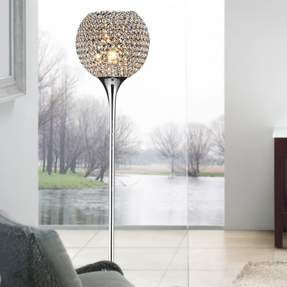 Modern Crystal Floor Lamp suppore LED E27 Sconce crystal lamps foyer lamps shade Home Decor Luminaire FRFL/0005 study room light(China (Mainland))