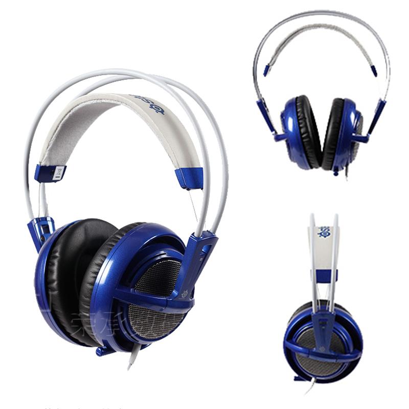 BLue headset New Headphones Steelseries Siberia V2 brand noise isolating game Headphones for headphone gamer FREE Shipping(China (Mainland))