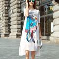 Maxi Fashion Dress 2016 New Ladies Summer Long Dress Women s Short Sleeve Loose 100 Silk