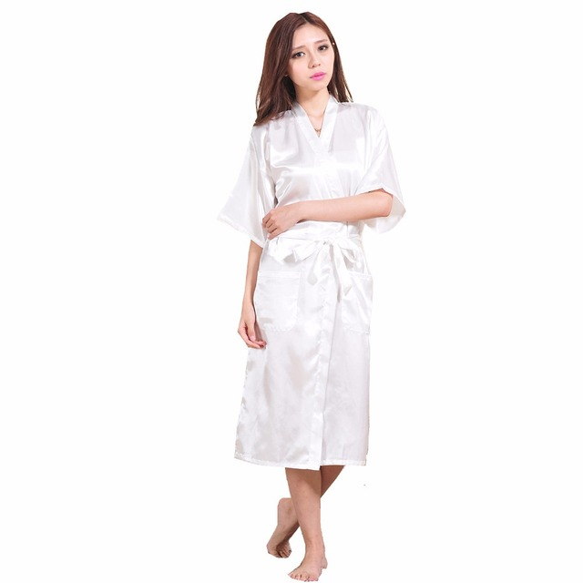 Белая женщина сексуальные шелковые район одеяние китайских женщин пижамы кимоно ванна ...