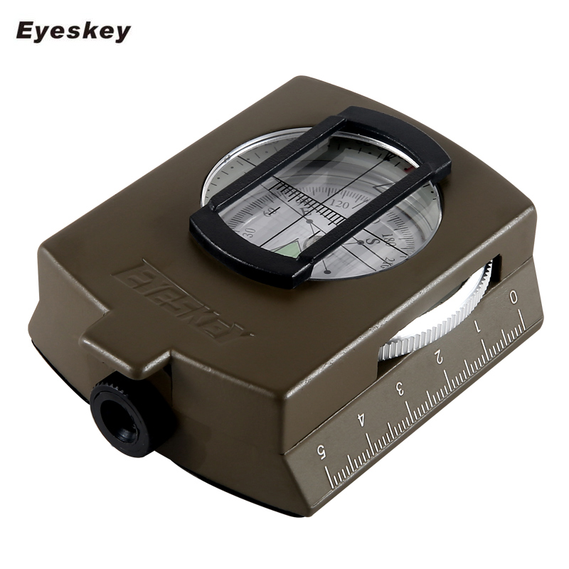 Military Lensatic Compass Eyeskey Survival Military Compass Hiking Outdoor Camping Equipment Geological Compass Compact Scale(China (Mainland))