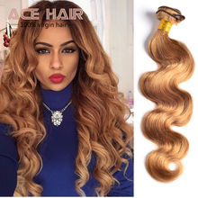 Honey Blonde Brazilian Hair Weave Bundles Color 27# Brazilian Body Wave Human Hair 7A Grade Brazilian Virgin Remy Hair Extension(China (Mainland))