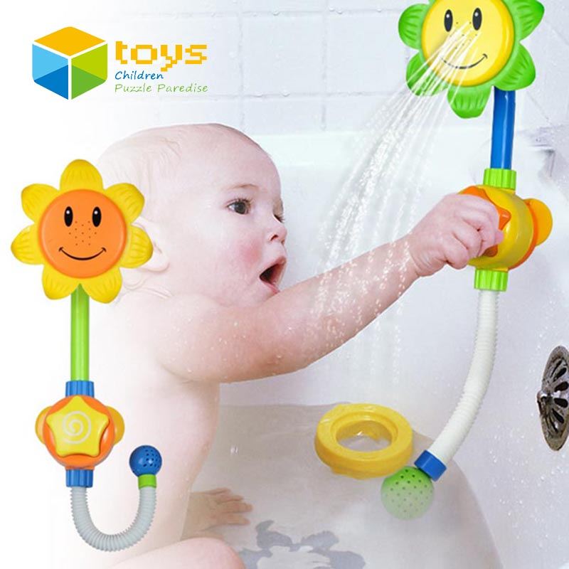 baby bath toys for children kids shower room sunflower spraying water toys bathtub bathroom. Black Bedroom Furniture Sets. Home Design Ideas