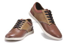 leather leisure shoes man , top grade leather man shoes , excellent quality shoes ,discount shoes(China (Mainland))