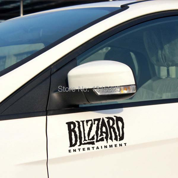 Blizzard Entertainment Reflective Car Sticker Decal for Tesla Toyota Ford Chevrolet Volkswagen skoda polo font b