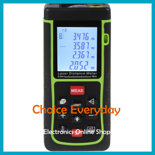 Hot 40M Handheld 2mm Accuracy Laser Distance Meter Rangefinder Measurer With LCD Display For Area &amp; Volume Measurement<br><br>Aliexpress